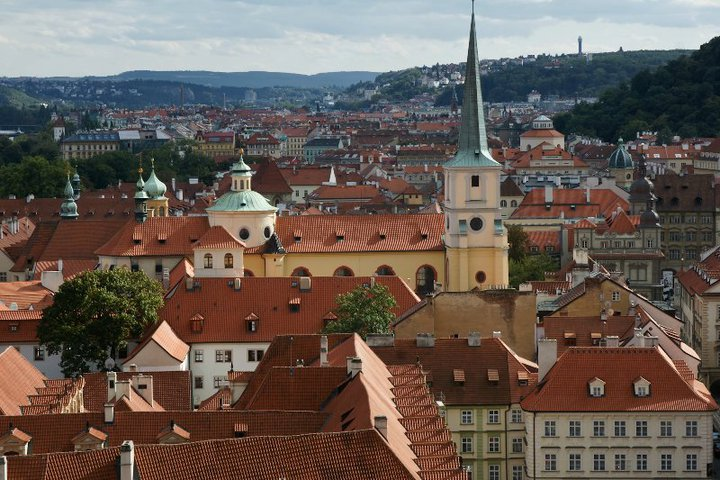 Historic Prague roofs