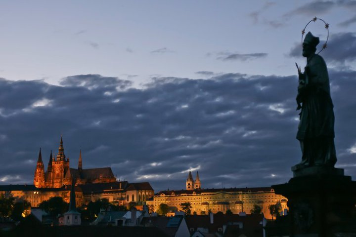 Evening clouds from charles bridge