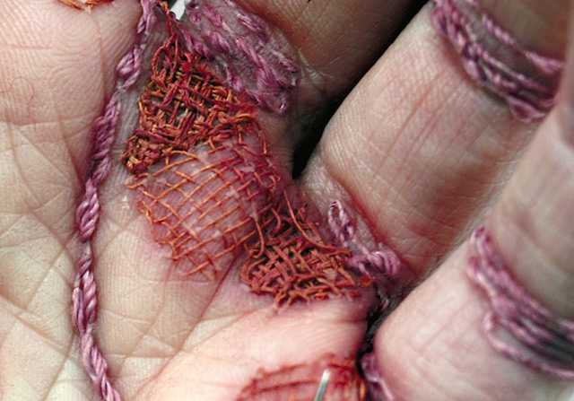 Embroidered flesh
