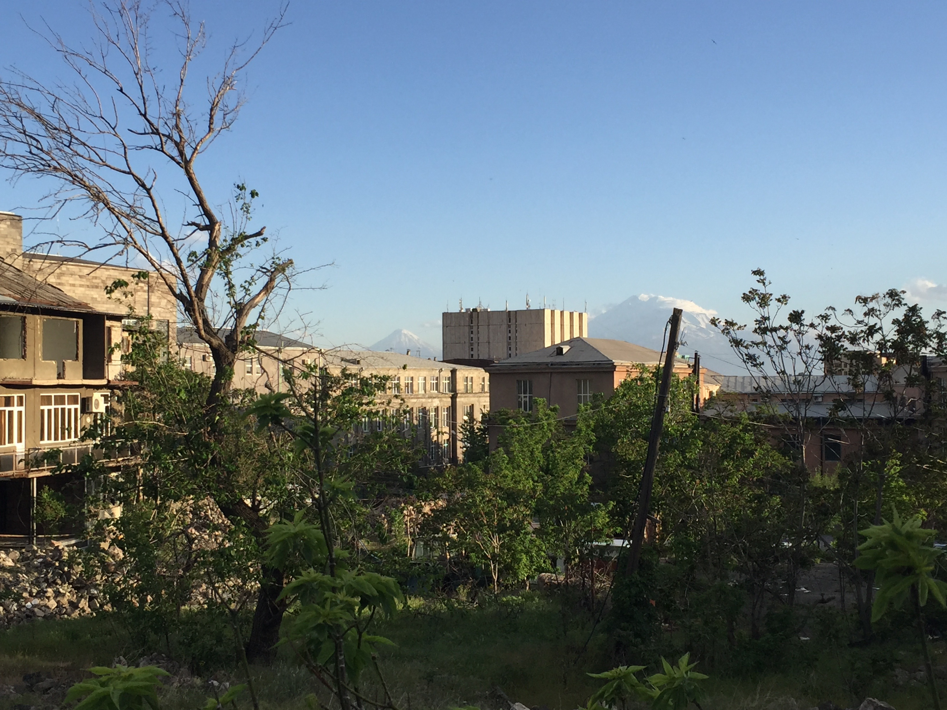 Yerevan from the back