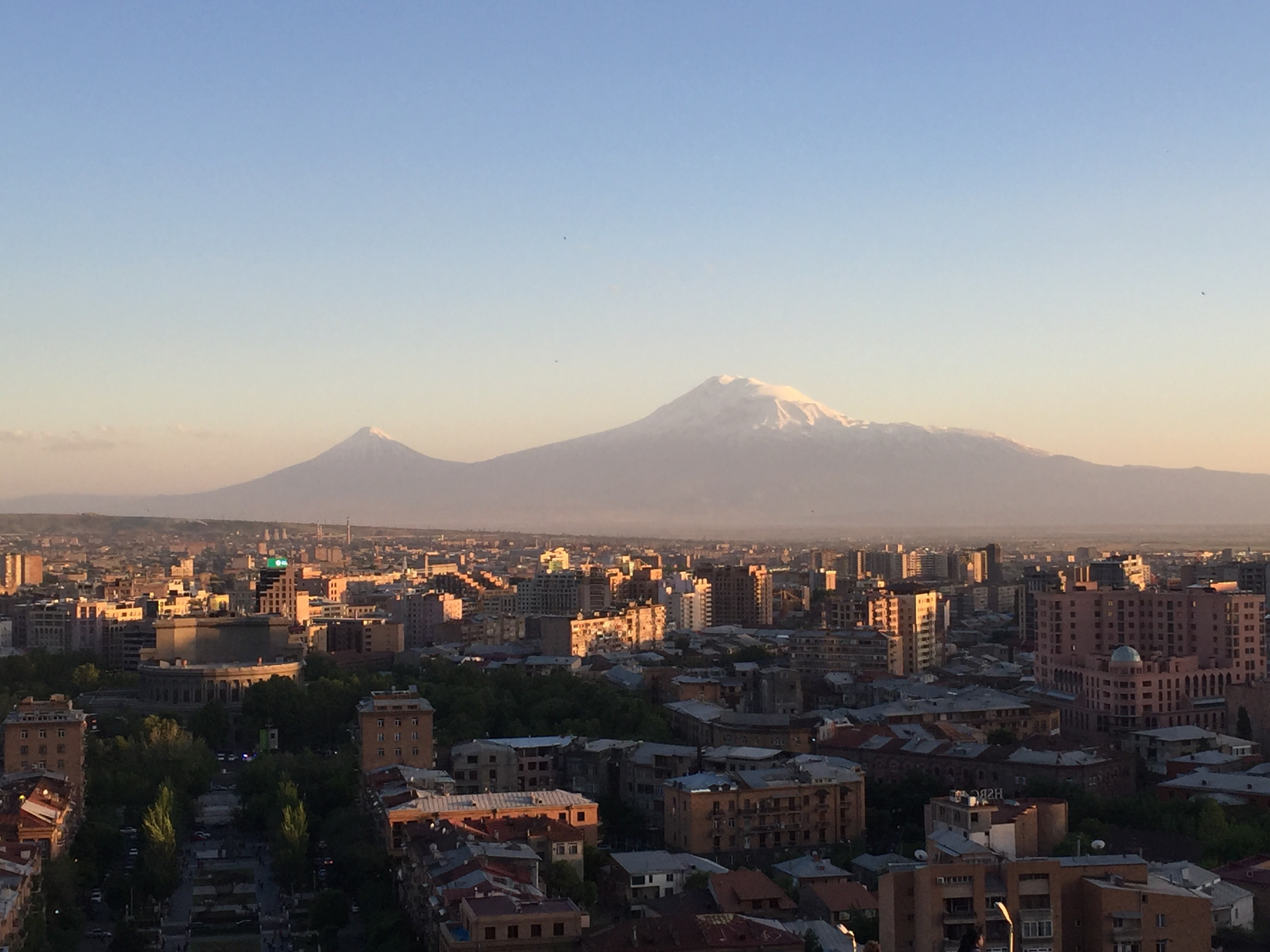 Ararat sunset panorama